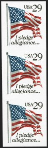Sale Number 1145, Lot Number 671, Modern Errors (Scott 2438e thru 2853b)29c Pledge of Allegiance Flag, Imperforate Pair (2593d), 29c Pledge of Allegiance Flag, Imperforate Pair (2593d)