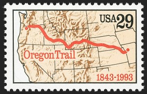 Sale Number 1145, Lot Number 679, Modern Errors (Scott 2438e thru 2853b)29c Oregon Trail, Blue Litho Omitted (2747b), 29c Oregon Trail, Blue Litho Omitted (2747b)