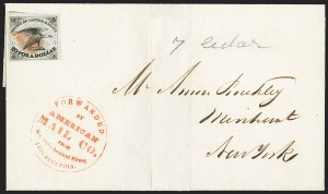 Sale Number 1146, Lot Number 1531, Carriers and LocalsAmerican Letter Mail Co., 5c Black (5L1), American Letter Mail Co., 5c Black (5L1)