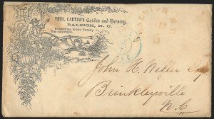 Sale Number 1146, Lot Number 1625, Civil War: Confederate Postmasters Provisionals, cont.Raleigh N.C., 5c Red entire (68XU1), Raleigh N.C., 5c Red entire (68XU1)