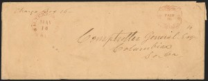Sale Number 1146, Lot Number 1634, Civil War: Confederate Postmasters Provisionals, cont.Walterborough S.C., 10c Carmine entire (108XU2), Walterborough S.C., 10c Carmine entire (108XU2)