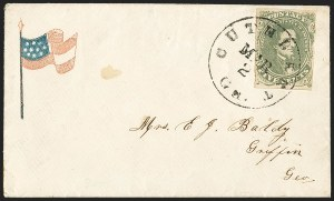 Sale Number 1146, Lot Number 1635, Civil War: Confederate General Issues5c Olive Green, Stone A-B (1c), 5c Olive Green, Stone A-B (1c)