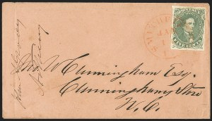 Sale Number 1146, Lot Number 1636, Civil War: Confederate General Issues5c Green, Stone 1 (1), 5c Green, Stone 1 (1)