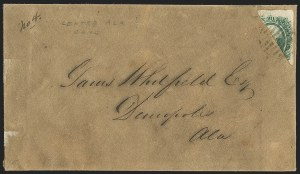 Sale Number 1146, Lot Number 1647, Civil War: Confederate General Issues20c Green, Diagonal Half Used as 10c (13d), 20c Green, Diagonal Half Used as 10c (13d)
