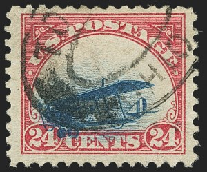 Sale Number 1147, Lot Number 15, Grounded Plane Used and Cover24c Carmine Rose & Blue, 1918 Air Post, Grounded Plane Variety (C3 var), 24c Carmine Rose & Blue, 1918 Air Post, Grounded Plane Variety (C3 var)