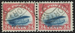 Sale Number 1147, Lot Number 17, Grounded Plane Used and Cover24c Carmine Rose & Blue, 1918 Air Post, Grounded Plane Variety (C3 var), 24c Carmine Rose & Blue, 1918 Air Post, Grounded Plane Variety (C3 var)