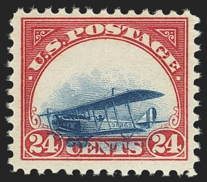 Sale Number 1147, Lot Number 30, Grounded Planes and 10th Row Sanabria Sheet24c Carmine Rose & Blue, 1918 Air Post, Grounded Plane Variety (C3 var), 24c Carmine Rose & Blue, 1918 Air Post, Grounded Plane Variety (C3 var)
