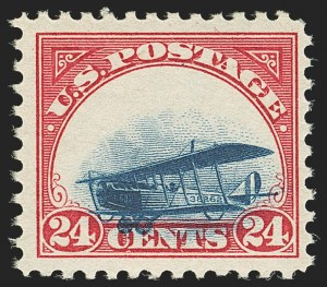 Sale Number 1147, Lot Number 31, Grounded Planes and 10th Row Sanabria Sheet24c Carmine Rose & Blue, 1918 Air Post, Grounded Plane Variety (C3 var), 24c Carmine Rose & Blue, 1918 Air Post, Grounded Plane Variety (C3 var)