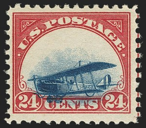 Sale Number 1147, Lot Number 32, Grounded Planes and 10th Row Sanabria Sheet24c Carmine Rose & Blue, 1918 Air Post, Grounded Plane Variety (C3 var), 24c Carmine Rose & Blue, 1918 Air Post, Grounded Plane Variety (C3 var)