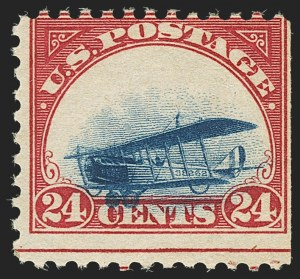 Sale Number 1147, Lot Number 35, Grounded Planes and 10th Row Sanabria Sheet24c Carmine Rose & Blue, 1918 Air Post, Grounded Plane Variety (C3 var), 24c Carmine Rose & Blue, 1918 Air Post, Grounded Plane Variety (C3 var)