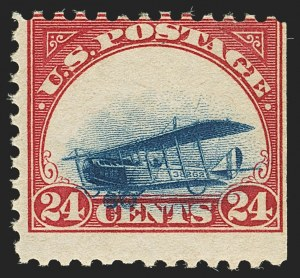 Sale Number 1147, Lot Number 36, Grounded Planes and 10th Row Sanabria Sheet24c Carmine Rose & Blue, 1918 Air Post, Grounded Plane Variety (C3 var), 24c Carmine Rose & Blue, 1918 Air Post, Grounded Plane Variety (C3 var)