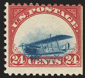 Sale Number 1147, Lot Number 37, Grounded Planes and 10th Row Sanabria Sheet24c Carmine Rose & Blue, 1918 Air Post, Grounded Plane Variety (C3 var), 24c Carmine Rose & Blue, 1918 Air Post, Grounded Plane Variety (C3 var)