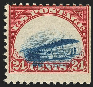 Sale Number 1147, Lot Number 38, Grounded Planes and 10th Row Sanabria Sheet24c Carmine Rose & Blue, 1918 Air Post, Grounded Plane Variety (C3 var), 24c Carmine Rose & Blue, 1918 Air Post, Grounded Plane Variety (C3 var)