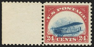 Sale Number 1147, Lot Number 41, Landing or Low Plane24c Carmine Rose & Blue, 1918 Air Post, Landing Plane Variety (C3 var), 24c Carmine Rose & Blue, 1918 Air Post, Landing Plane Variety (C3 var)