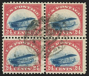 Sale Number 1147, Lot Number 42, Landing or Low Plane24c Carmine Rose & Blue, 1918 Air Post, Landing Plane Variety (C3 var), 24c Carmine Rose & Blue, 1918 Air Post, Landing Plane Variety (C3 var)