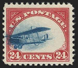 Sale Number 1147, Lot Number 43, Fast and Supersonic Plane24c Carmine Rose & Blue, 1918 Air Post, Fast Plane Variety (C3 var), 24c Carmine Rose & Blue, 1918 Air Post, Fast Plane Variety (C3 var)