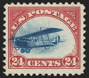 Sale Number 1147, Lot Number 46, Fast and Supersonic Plane24c Carmine Rose & Blue, 1918 Air Post, Fast Plane Variety (C3 var), 24c Carmine Rose & Blue, 1918 Air Post, Fast Plane Variety (C3 var)