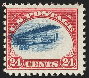 Sale Number 1147, Lot Number 51, Fast and Supersonic Plane24c Carmine Rose & Blue, 1918 Air Post, Fast Plane Variety (C3 var), 24c Carmine Rose & Blue, 1918 Air Post, Fast Plane Variety (C3 var)