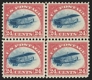 Sale Number 1147, Lot Number 52, Fast and Supersonic Plane24c Carmine Rose & Blue, 1918 Air Post, Fast Plane Variety (C3 var), 24c Carmine Rose & Blue, 1918 Air Post, Fast Plane Variety (C3 var)