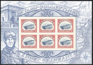 Sale Number 1147, Lot Number 64, Inverted Jenny Reprint and Non-Inverted Sheet$2.00 Red & Blue, Non-Inverted Jenny Error Sheet (4806d), $2.00 Red & Blue, Non-Inverted Jenny Error Sheet (4806d)