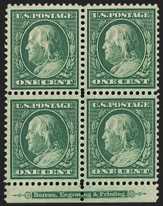 Sale Number 1148, Lot Number 103, One-Cent Green, Two-Cent Carmine (Scott 357-358)1c Green, Bluish (357), 1c Green, Bluish (357)