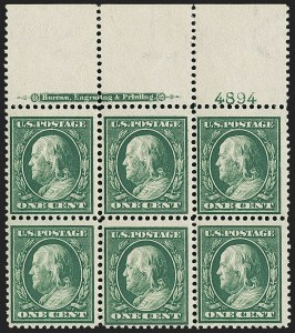 Sale Number 1148, Lot Number 104, One-Cent Green, Two-Cent Carmine (Scott 357-358)1c Green, Bluish (357), 1c Green, Bluish (357)