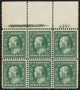 Sale Number 1148, Lot Number 105, One-Cent Green, Two-Cent Carmine (Scott 357-358)1c Green, Bluish (357), 1c Green, Bluish (357)