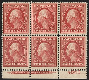 Sale Number 1148, Lot Number 112, One-Cent Green, Two-Cent Carmine (Scott 357-358)2c Carmine, Bluish (358), 2c Carmine, Bluish (358)