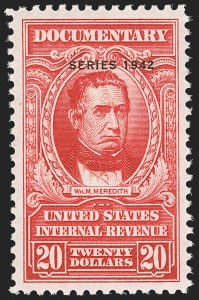 "Sale Number 1149, Lot Number 237, Red Documentary Issues up to Series 1952$20.00 Carmine, ""Series 1942"" Ovpt. (R354), $20.00 Carmine, ""Series 1942"" Ovpt. (R354)"