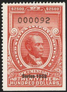"Sale Number 1149, Lot Number 261, Red Documentary Issues: Series 1953-1958, Balance$2,500.00 Carmine, ""Series 1953"" Ovpt. (R651), $2,500.00 Carmine, ""Series 1953"" Ovpt. (R651)"