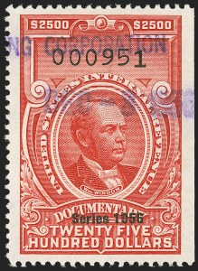 "Sale Number 1149, Lot Number 271, Red Documentary Issues: Series 1953-1958, Balance$2,500.00 Carmine, ""Series 1956"" Ovpt. (R703), $2,500.00 Carmine, ""Series 1956"" Ovpt. (R703)"