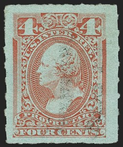 Sale Number 1149, Lot Number 300, Proprietary Later Issues4c Red, Rouletted, Proprietary (RB15c), 4c Red, Rouletted, Proprietary (RB15c)