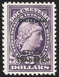 "Sale Number 1149, Lot Number 314, Stock Transfer$3.00 Violet, ""Series 1940"" Ovpt., Stock Transfer (RD56), $3.00 Violet, ""Series 1940"" Ovpt., Stock Transfer (RD56)"