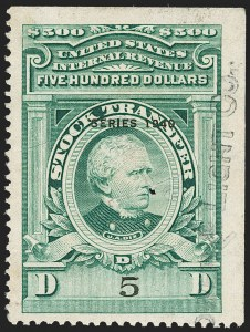 "Sale Number 1149, Lot Number 329, Green Stock Transfer: 1940-1942 Ovpts.$500.00 Bright Green, ""Series 1940"" Ovpt., Stock Transfer (RD90), $500.00 Bright Green, ""Series 1940"" Ovpt., Stock Transfer (RD90)"