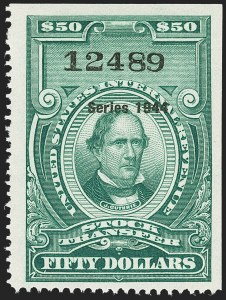 "Sale Number 1149, Lot Number 348, Green Stock Transfer: 1943-1944 Ovpts.$50.00 Bright Green, ""Series 1944"" Ovpt., Stock Transfer (RD181), $50.00 Bright Green, ""Series 1944"" Ovpt., Stock Transfer (RD181)"