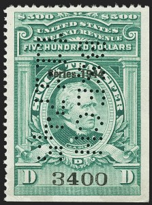 "Sale Number 1149, Lot Number 351, Green Stock Transfer: 1943-1944 Ovpts.$500.00 Bright Green, ""Series 1944"" Ovpt., Stock Transfer (RD184), $500.00 Bright Green, ""Series 1944"" Ovpt., Stock Transfer (RD184)"