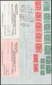 "Sale Number 1149, Lot Number 353, Green Stock Transfer: 1943-1944 Ovpts.$5,000.00 Bright Green, ""Series 1944"" Ovpt., Stock Transfer (RD185B), $5,000.00 Bright Green, ""Series 1944"" Ovpt., Stock Transfer (RD185B)"