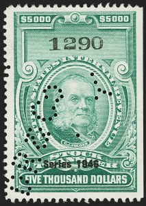 "Sale Number 1149, Lot Number 366, Green Stock Transfer: 1945-1947 Ovpts.$5,000.00 Bright Green, ""Series 1946"" Ovpt., Stock Transfer (RD233), $5,000.00 Bright Green, ""Series 1946"" Ovpt., Stock Transfer (RD233)"