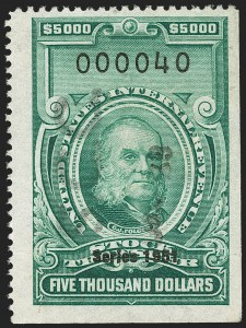 "Sale Number 1149, Lot Number 388, Green Stock Transfer: 1948-1952 Ovpts.$5,000.00 Bright Green, ""Series 1951"" Ovpt., Stock Transfer (RD363), $5,000.00 Bright Green, ""Series 1951"" Ovpt., Stock Transfer (RD363)"