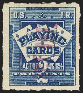 Sale Number 1149, Lot Number 395, Playing Cards7c on 2c Blue, Playing Cards (RF5). Mint N.H, 7c on 2c Blue, Playing Cards (RF5). Mint N.H