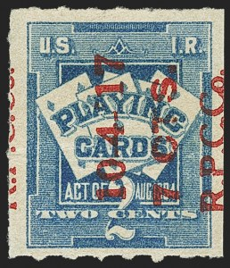Sale Number 1149, Lot Number 397, Playing Cards7c on 2c Blue, Playing Cards (RF8), 7c on 2c Blue, Playing Cards (RF8)