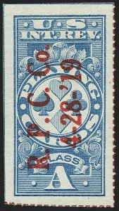 "Sale Number 1149, Lot Number 399, Playing Cards""Class A"" Blue, Playing Cards, Rouletted 13 in Red (RF12a), ""Class A"" Blue, Playing Cards, Rouletted 13 in Red (RF12a)"