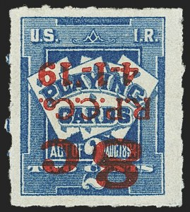 Sale Number 1149, Lot Number 400, Playing Cards8c on 2c Blue, Playing Cards, Inverted Surcharge (RF15), 8c on 2c Blue, Playing Cards, Inverted Surcharge (RF15)