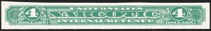Sale Number 1149, Lot Number 410, Narcotic Tax$4.00 Green, Imperforate, Narcotic Tax (RJA104a), $4.00 Green, Imperforate, Narcotic Tax (RJA104a)