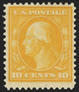 Sale Number 1150, Lot Number 1014, 1909 Bluish Paper Issue (Scott 357-366)10c Yellow, Bluish (364), 10c Yellow, Bluish (364)