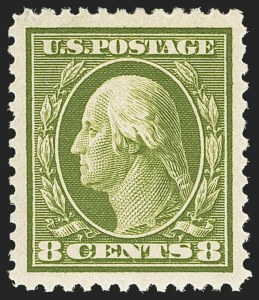 Sale Number 1150, Lot Number 1020, 1910-13 Washington-Franklin Issue (Scott 374-396)8c Olive Green (380), 8c Olive Green (380)