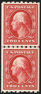 Sale Number 1150, Lot Number 1023, 1910-13 Washington-Franklin Issue (Scott 374-396)2c Carmine, Coil (391), 2c Carmine, Coil (391)