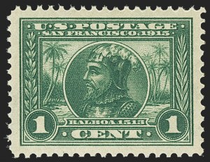 Sale Number 1150, Lot Number 1027, 1913-15 Panama-Pacific Issue (Scott 397-404)1c Panama-Pacific (397), 1c Panama-Pacific (397)