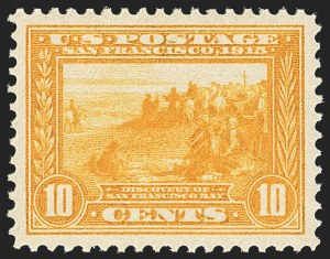 Sale Number 1150, Lot Number 1033, 1913-15 Panama-Pacific Issue (Scott 397-404)10c Orange Yellow, Panama-Pacific (400), 10c Orange Yellow, Panama-Pacific (400)