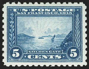 Sale Number 1150, Lot Number 1039, 1913-15 Panama-Pacific Issue (Scott 397-404)5c Panama-Pacific, Perf 10 (403), 5c Panama-Pacific, Perf 10 (403)
